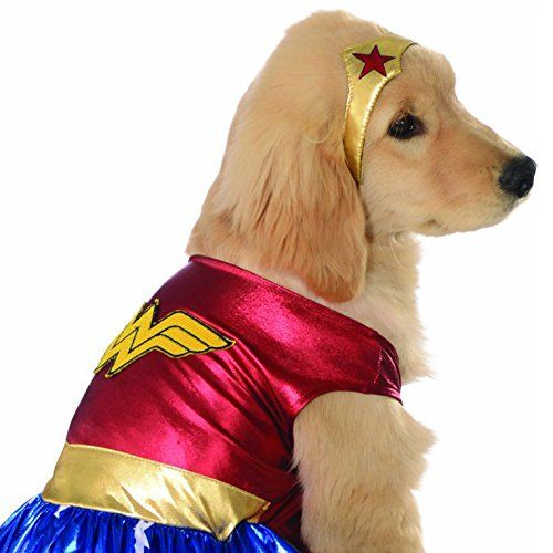 Amazon Com Rubie S Dc Comics Pet Costume Medium Wonder Woman