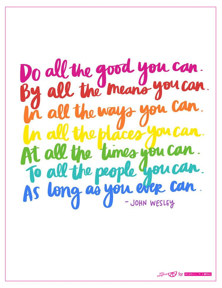 Do All The Good You Can Life Quotes Rainbow Quote Words