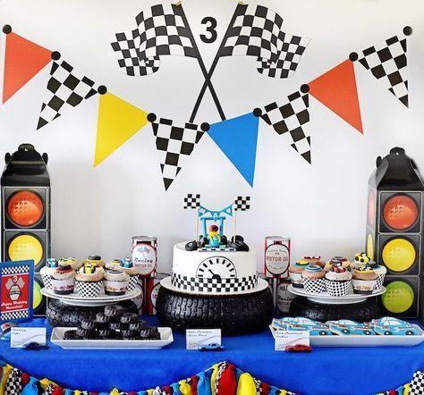 Maverick S Speedy Race Car Birthday Party Kara S Party Ideas Race Car Birthday Party Race Car Birthday Cars Birthday Parties