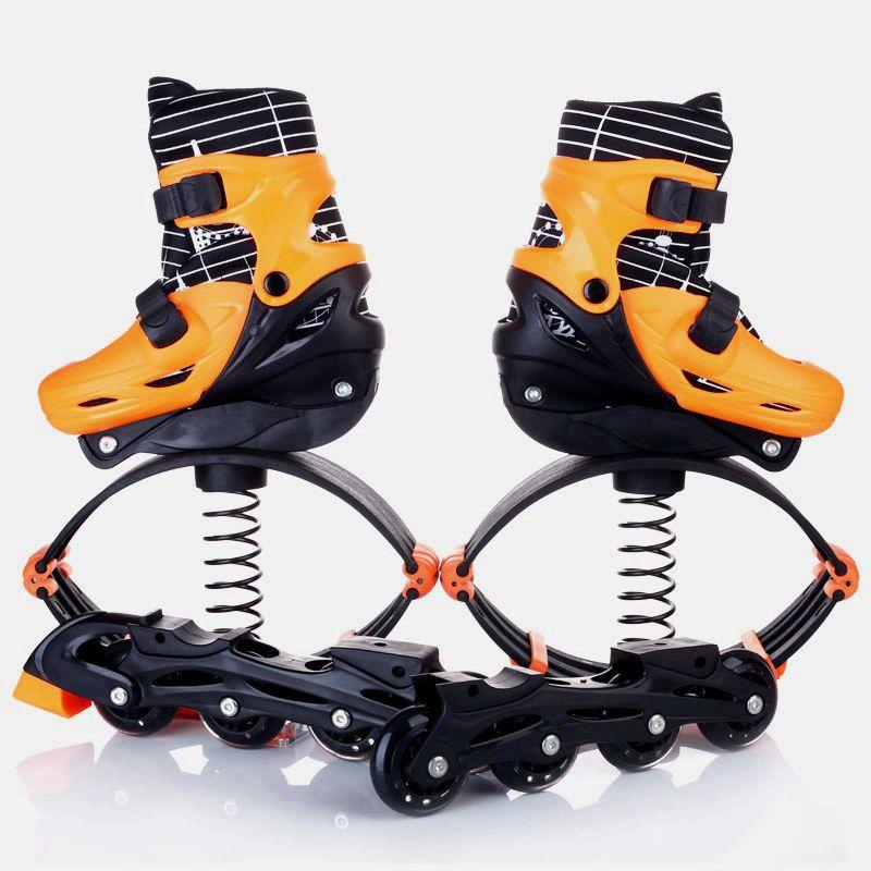 Orange-amarelo rosa 2016 novos sapatos de salto kangoo 2em1 roller skate sapatos de salto crianças adolescente adultos esportes fitness ao ar livre sapato