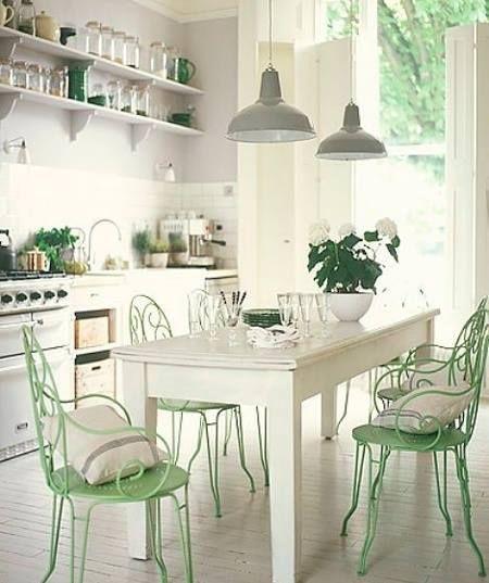 60 Refreshing Ideas for White Kitchens   Shabby chic ...