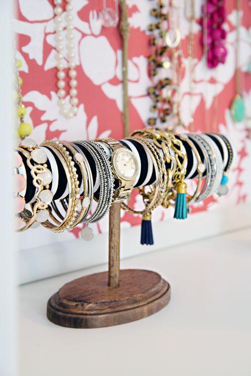 Jewelry Holder Bracelet Ring Earrings Display Rack Stand Coffee