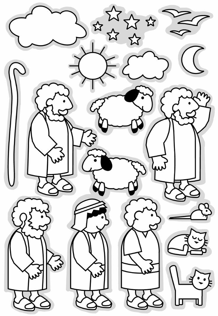 Lost Sheep and Shepherd Clip Art | Kids Coloring Pages | Pinterest ...