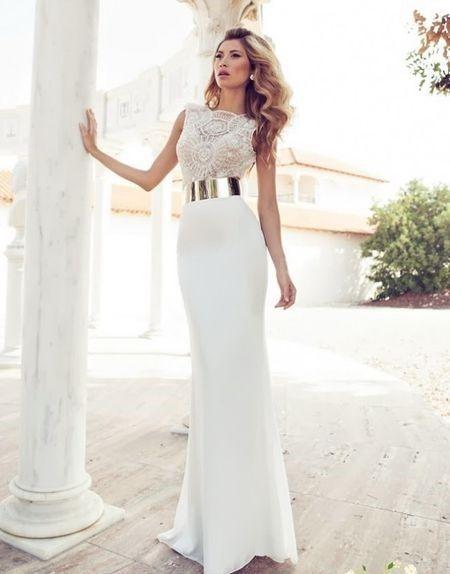 vestidos de novia para registro civil largos. diseños y modelos de