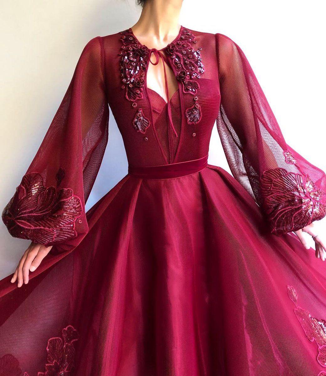 Burgundy QueenLove TMD Gown #flowerdresses