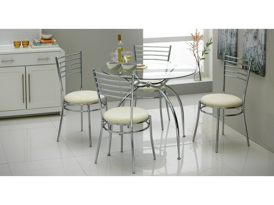 Hygiene Round Shape Space Saving Dining Table And Chair