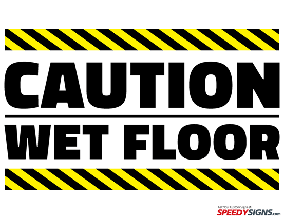 free caution wet floor printable sign template free. Black Bedroom Furniture Sets. Home Design Ideas
