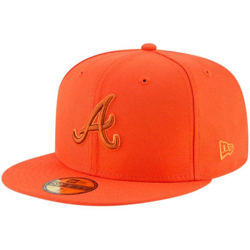 Atlanta Braves New Era League Pop 59FIFTY Fitted Hat - Orange ... 22a8523ba2bb