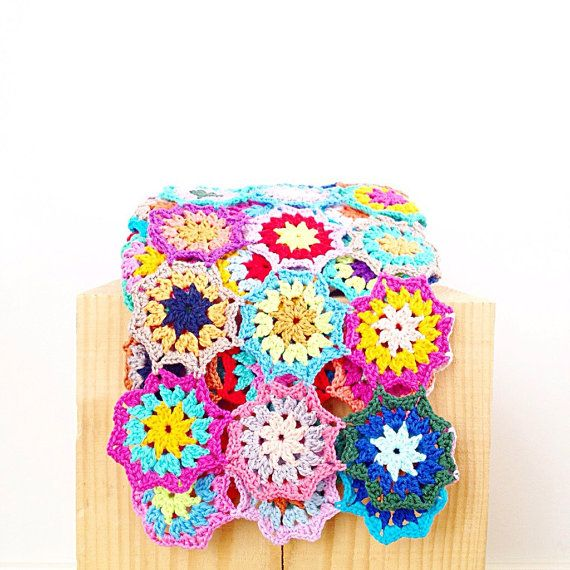Japanese Flower Blanket Throw PDF Crochet by annemariesbreiblog ...