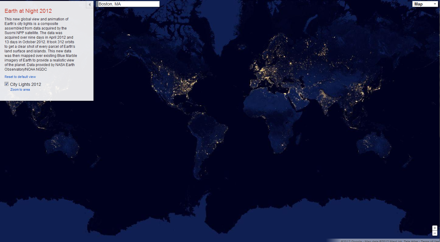 Google Maps at Night | School - urban rural | World ...