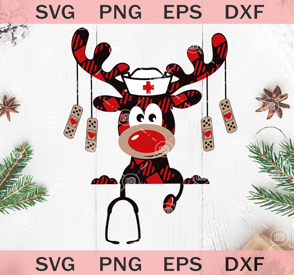 Reindeer Nurse Christmas SVG, Funny Nurse SVG, Christmas