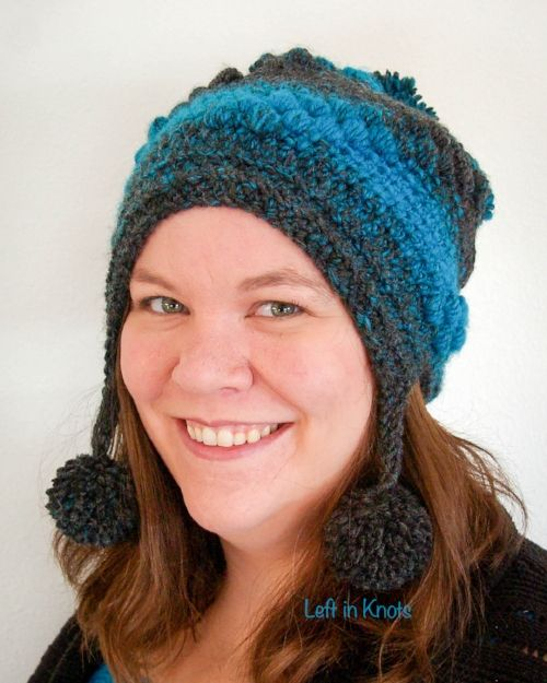 Day number seven of the Seven Days of Scarfie brings you this modern and  free hat pattern.  The Spiral Puffs Slouchy can be made to match the Puffs  Mod Scarf or as a stylish stand-alone piece!