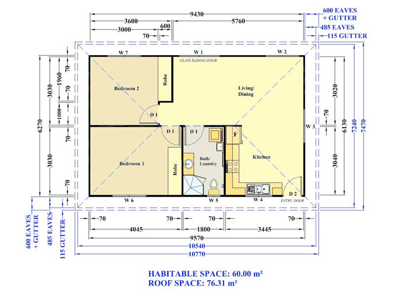 60m2 floor plans google search 60m2 pinterest for 2 bedroom granny flat plans