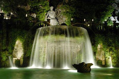 Ovato Fountain Villa D Este Park Italy Giardini Di Tivoli