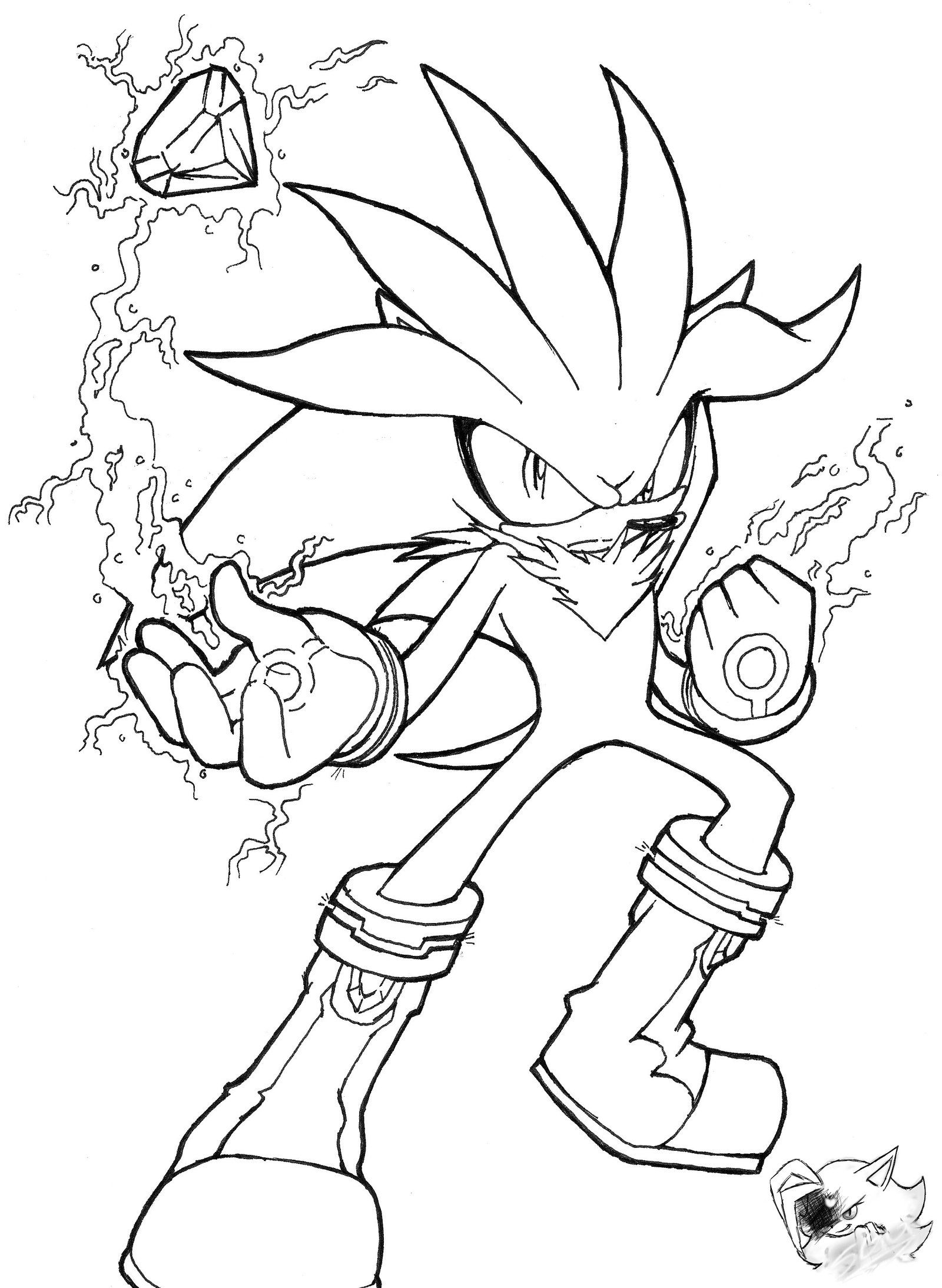Silver The Hedgehog Line Art By Sonicgirlgamer71551 On Deviantart Fox Coloring Page Hedgehog Colors Disney Coloring Pages