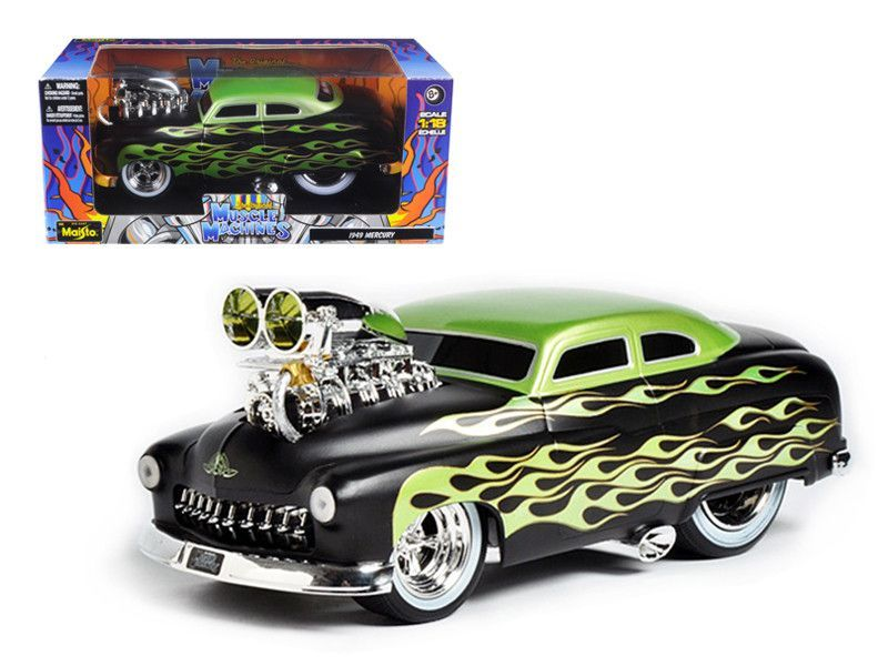 1949 Mercury Coupe Black With Flames \\Muscle Machines\\\