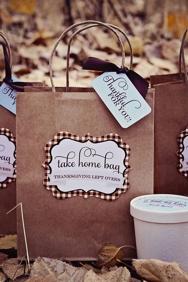 Take home bags for Thanksgiving leftovers