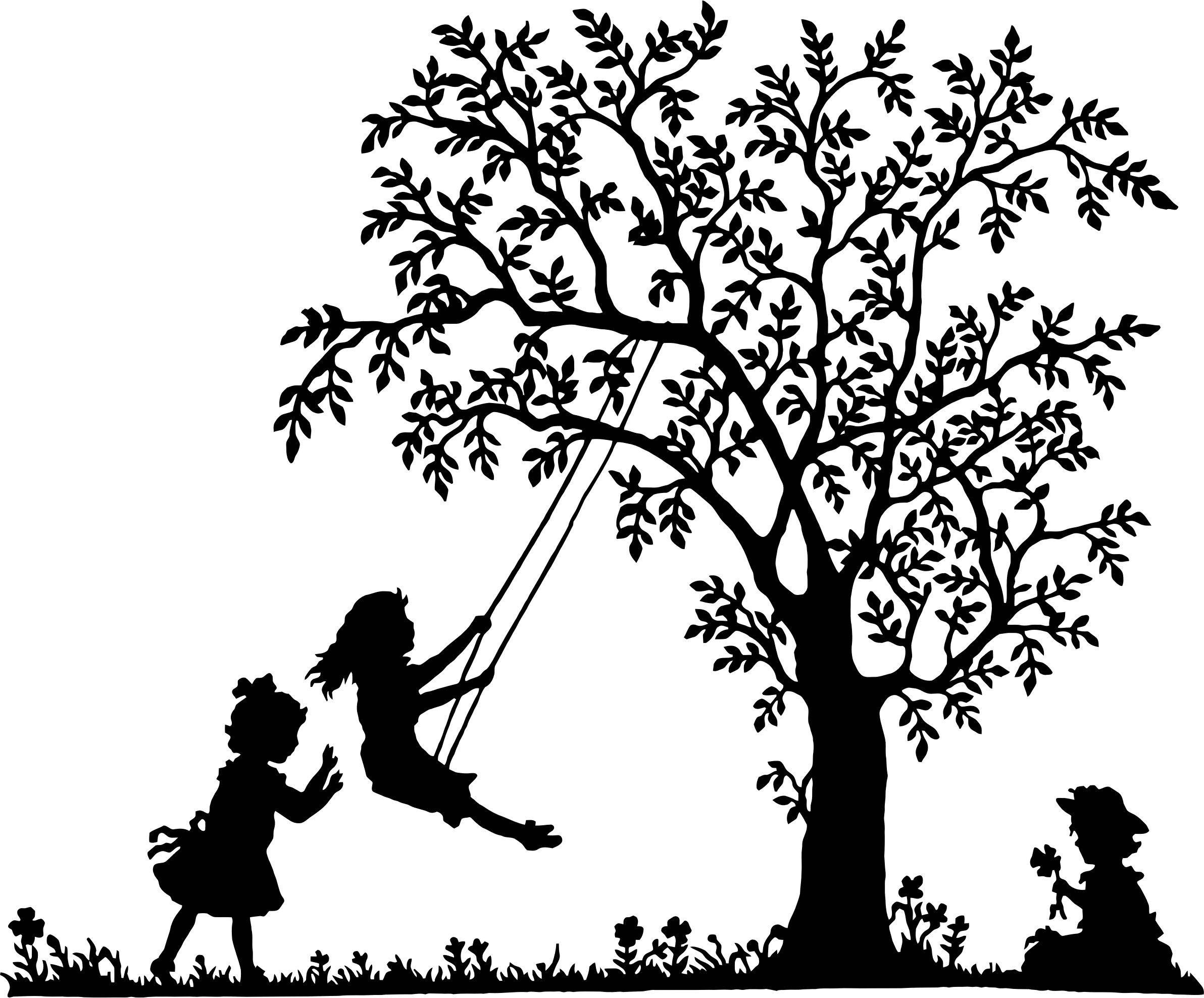 опять рисунок на качелях в саду почему спеть несколько