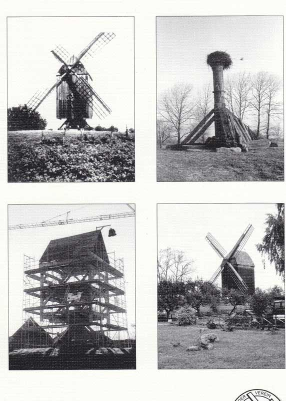 Greifswald Eldena - die Bockwindmühle Verfall und Wiederaufbau
