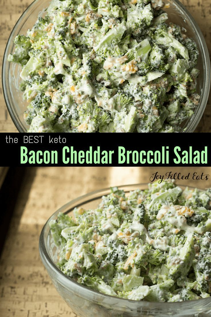 This Easy Broccoli Salad with Bacon is a summer favorite in my house. It is cool, quick, and easy. Low Carb, Keto, Gluten-Free, Grain-Free, THM S.
