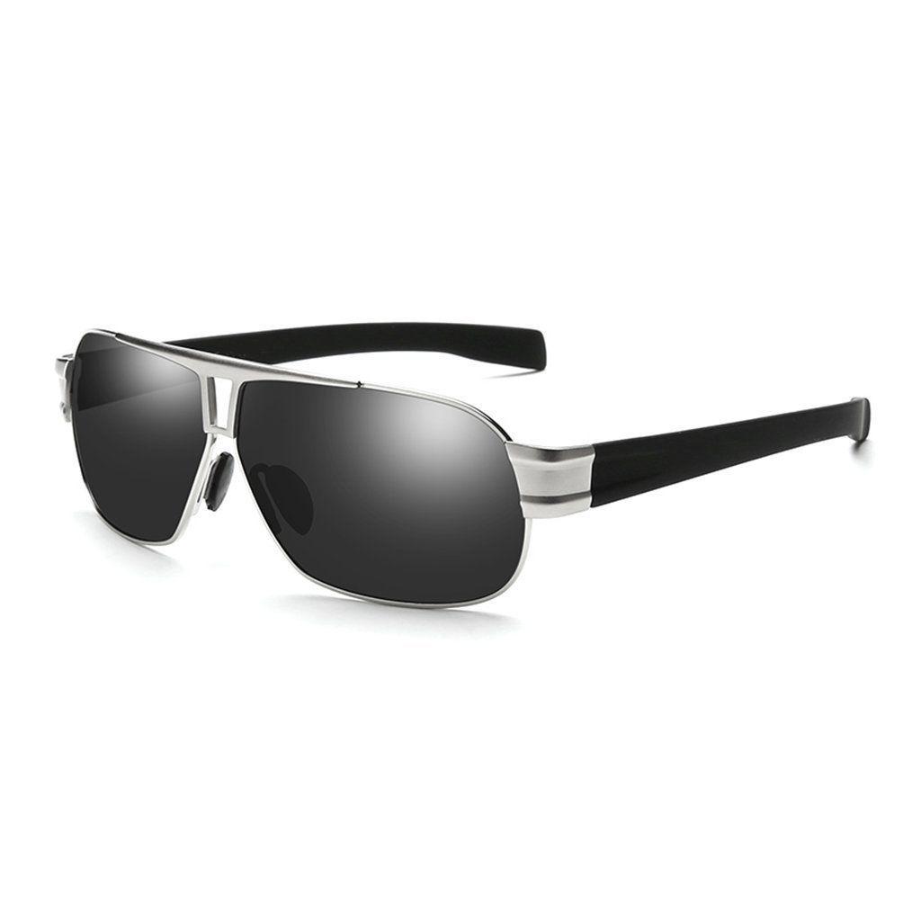 ZHIRONG La lentille de miroir originale rétro vintage polarisée lunettes de soleil unisexe UV 400 protection ( Couleur : 01 ) 9AJiM