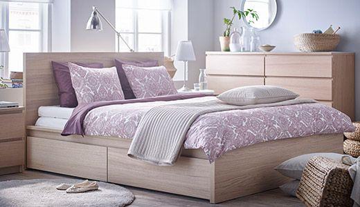 Schlafzimmer mit MALM Kommode -home- Pinterest