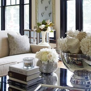 York House Living Rooms Decorative Coral Mirrored Bowl