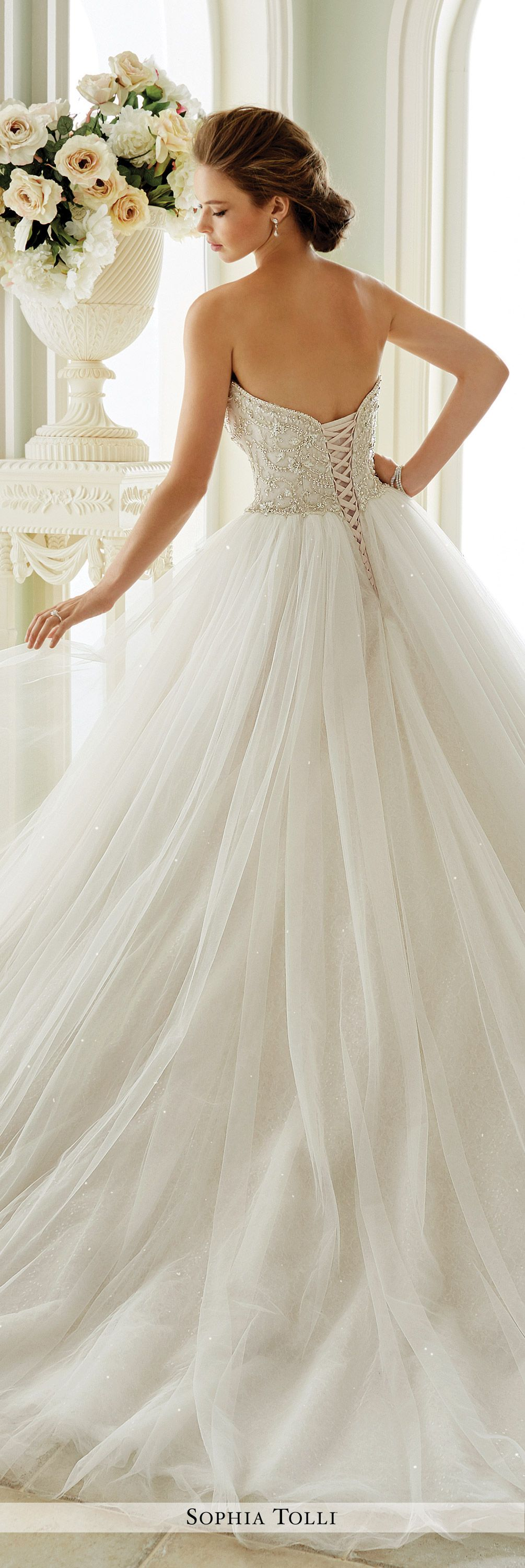 tulle wedding gown sophia tolli y21663 tulle balls