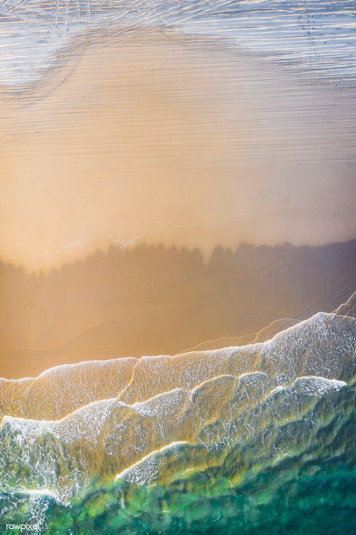 Download Premium Image Of White Sand Beach Drone Shot 1218448 Beach Pictures Tropical Island Beach Beach Landscape