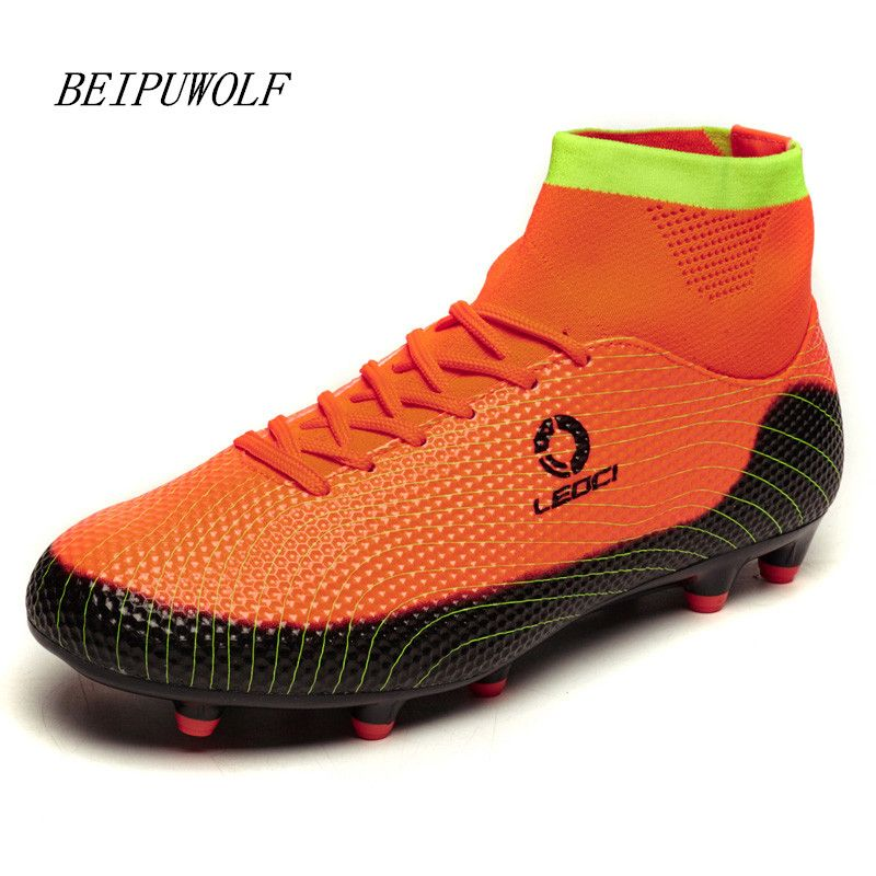 2016 High Top Ankle Soccer Boots Men and Kids Football Shoes Boys New FG  Soccer Cleats