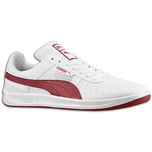 PUMA G. Vilas L2 Mens Tennis Shoes White/Team Regal Red..LOVE