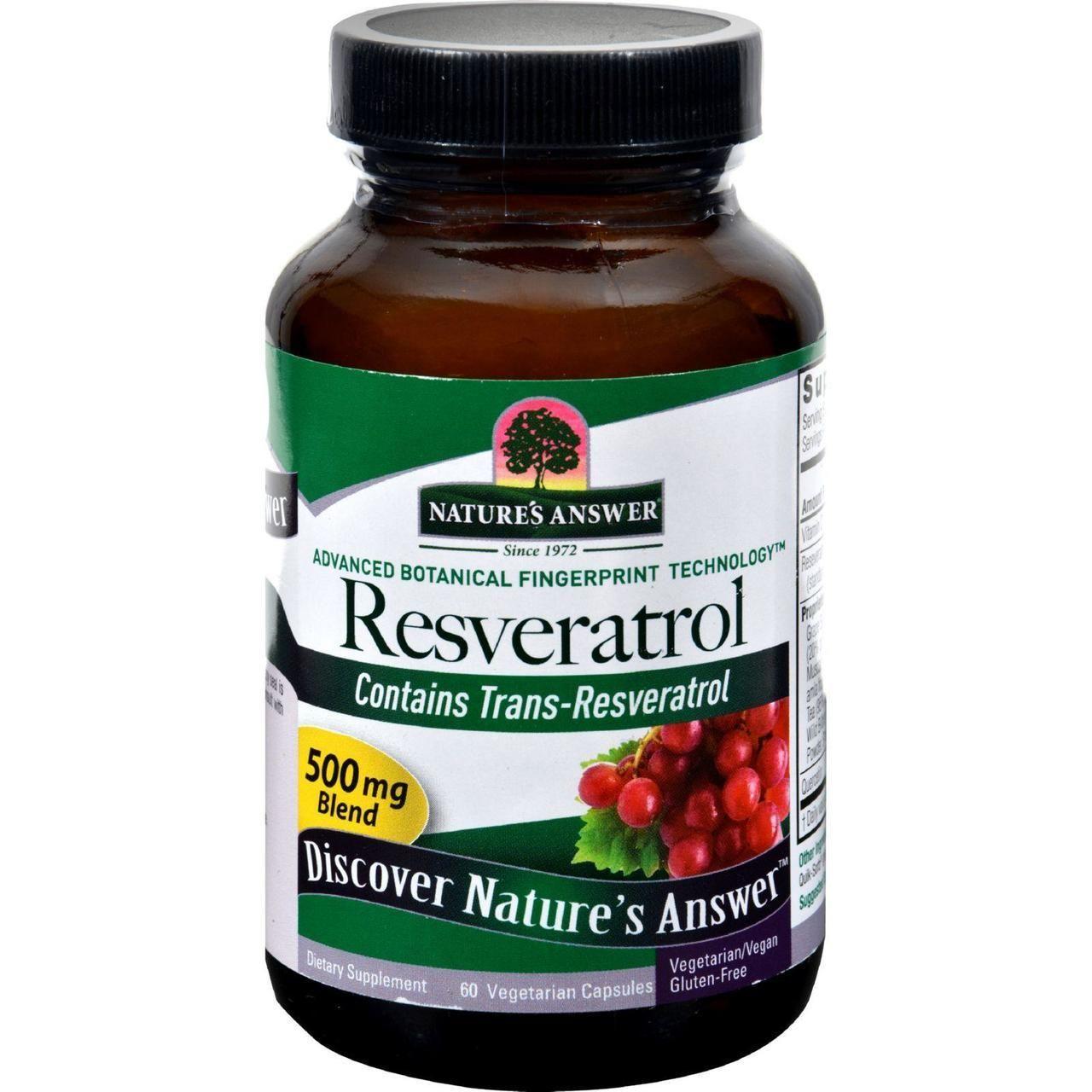 Nature's Answer Resveratrol 250 Mg 60 Vegetarian