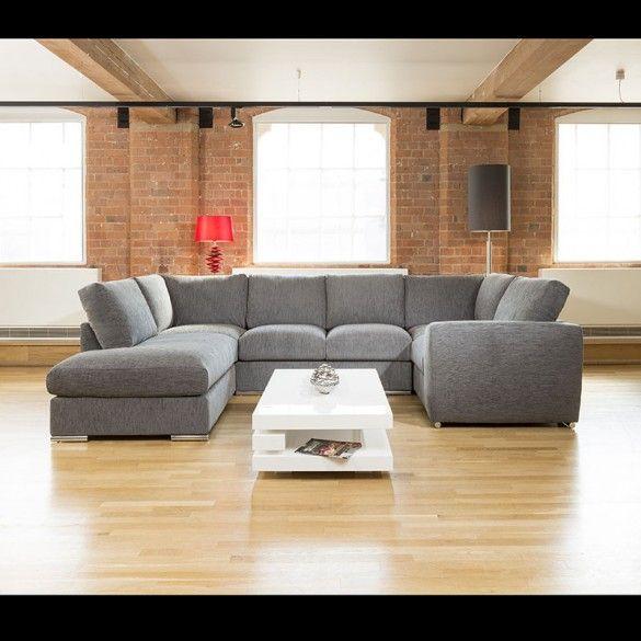 Quatropi Large Sofa Set Settee Corner Group U Shape Grey 3 3x2 1m L U Shaped Sofa U Shaped Corner Sofa Sofa Set