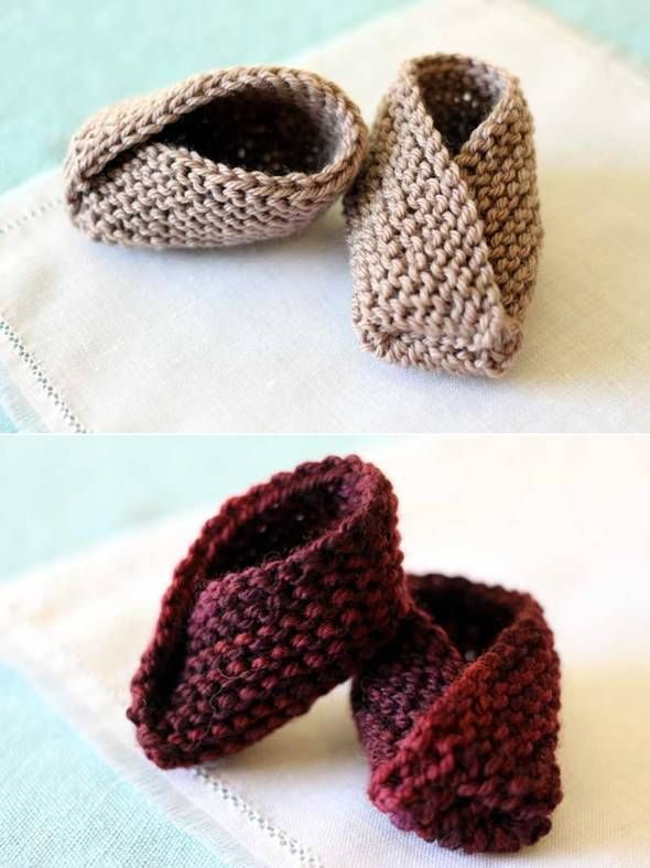 Diy Adorable Knitted Kimono Baby Booties Diy Crafts Pinterest