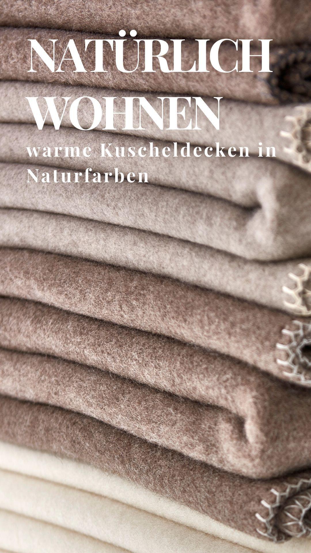 Kuscheldecke Natur In 2020 Kuscheldecke Naturfarben Und Wolldecke