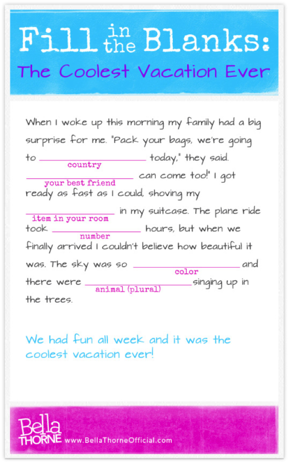 Fill in the Blanks silly story mad libs | so random | Pinterest ...