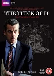 "The Thick Of It - Hilarious satire (or not) set in the UK government's corridors of power. Like ""The Office"" meets ""Yes Minister"", Peter Capaldi raises swearing to an artform."