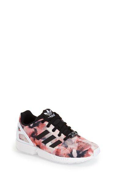 adidas 'ZX Flux' Print Sneaker (Baby, Walker, Toddler