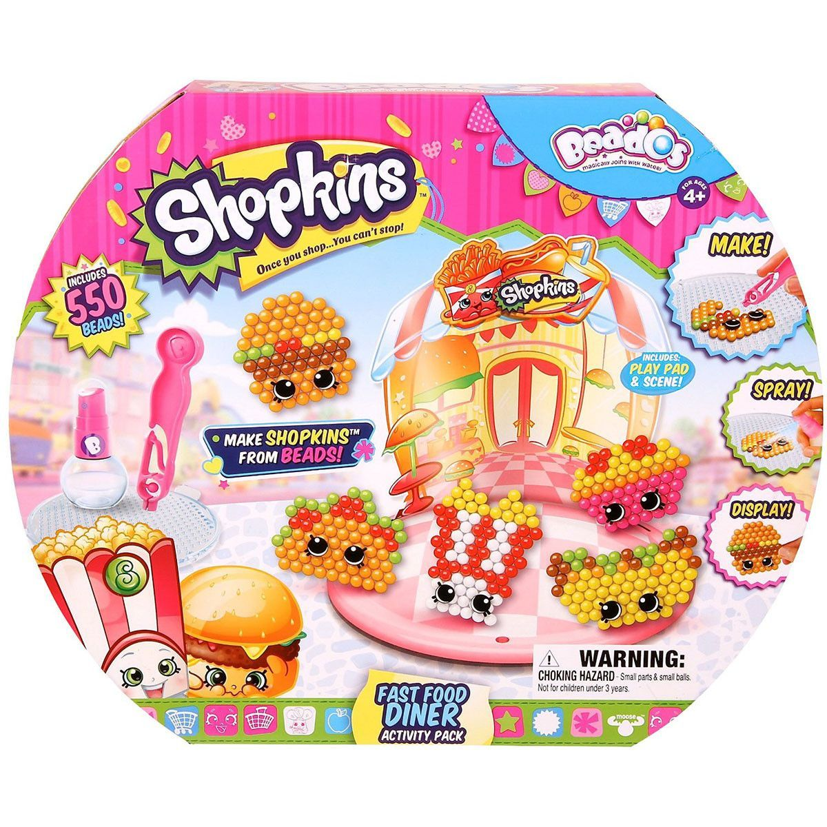 Shopkins Beados Fast Food Diner Activity Pack | I love beados ...