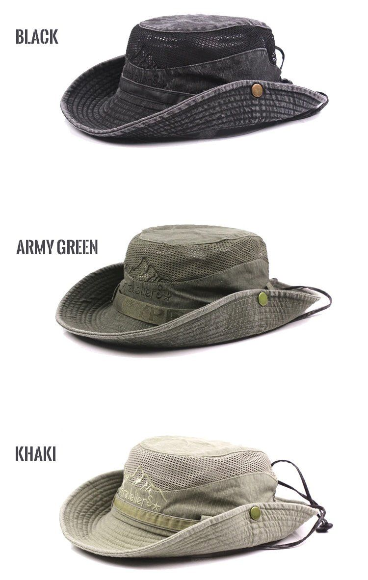 b3799746bb0 Outdoor Expedition Boonie Hat Wide Brim Bucket Hat UV Sun Protection Hiking  Fishing Outdoor Travel Hat For Men and Women - 5 Colors