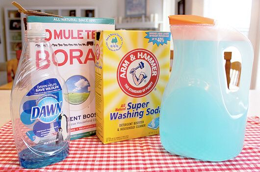 How To Make Your Own No Grate Liquid Laundry Detergent With