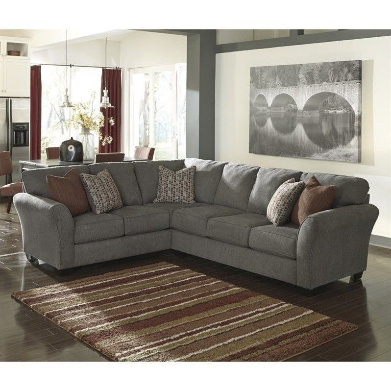 Best Ashley Furniture Doralin 2 Piece Sectional In Steel 400 x 300