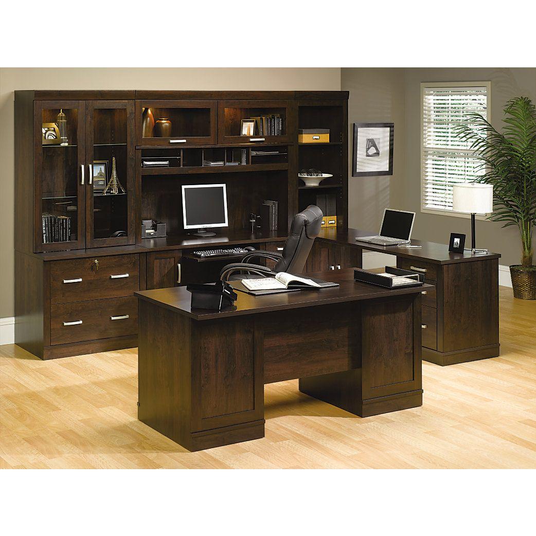 Sauder Office Port Executive Desk 29 12 H X 65 12 W X 29 12 D Dark
