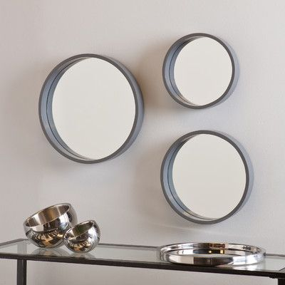 Wayfair Wall Mirrors daws 3 piece wall mirror set | wayfair | mirrors | pinterest