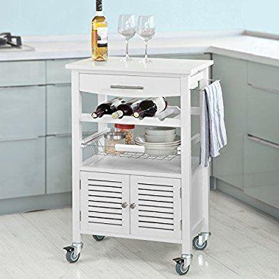 SoBuy® Servierwagen,Küchenwagen,Küchenregal, Rollwagen,Küchenschrank ...