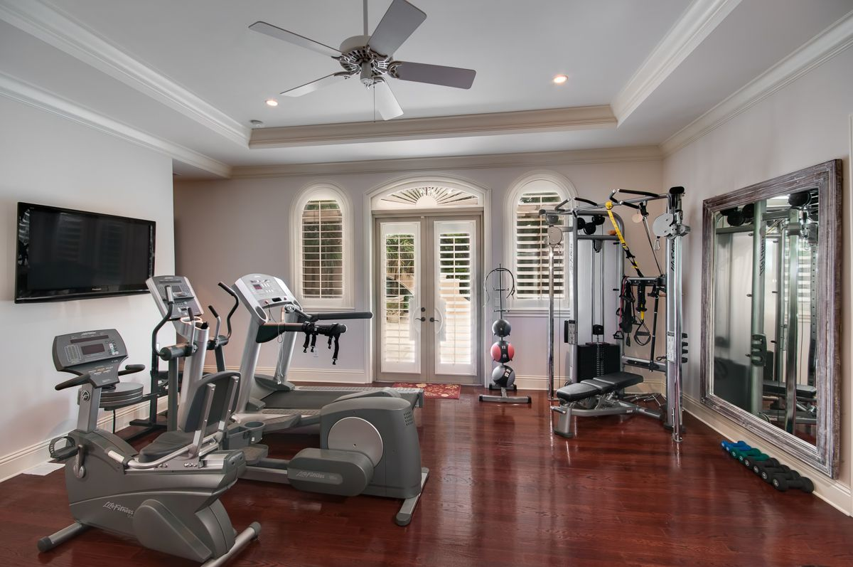 designing a home gym. 15 Home Gyms Worth Sweating In  Need some help with motivation A gorgeous stylish home gym will make you want to spend hours sweating in there every week As for the second thing need think through is