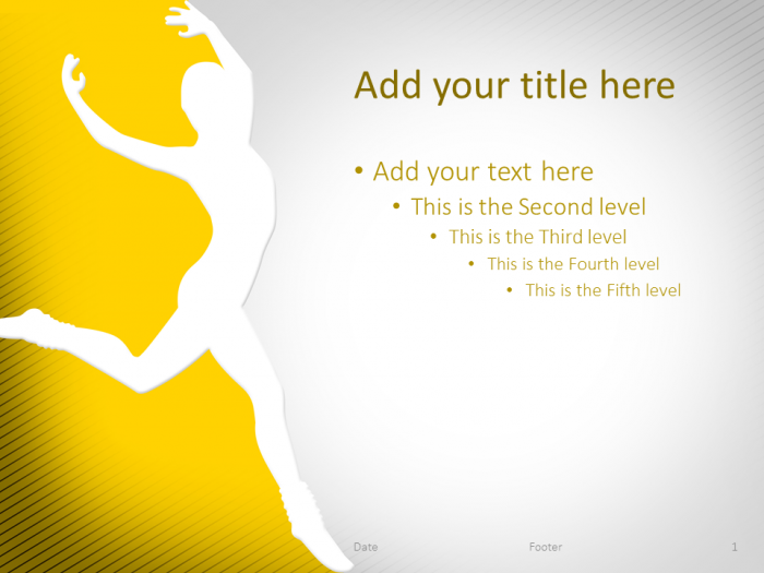 Dance Powerpoint Template Yellow  Sport Powerpoint Templates