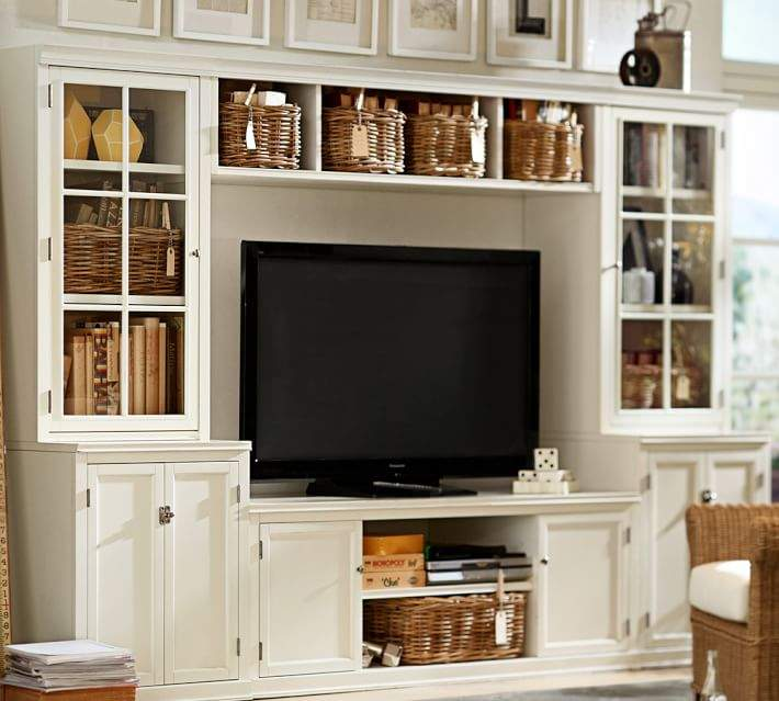 Logan Entertainment Center With Drawers Glass Towers