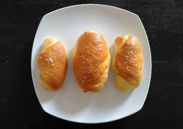 Resep Dan Cara Membuat Cheese Bread Otang Recipe Hot Dog Buns Recipes Bread