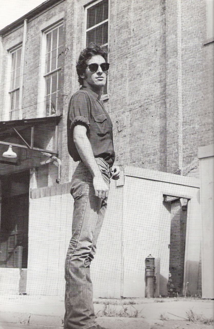 """Gesturing toward the band onstage, he said, """"we're repairmen--repairmen with a toolbox. If I repair a little of myself, I'll repair a little of you""""  [bruce]"""